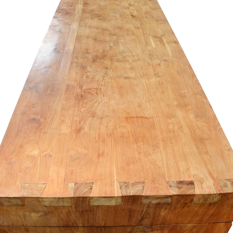 Custom Made Teak Wood  Table sale