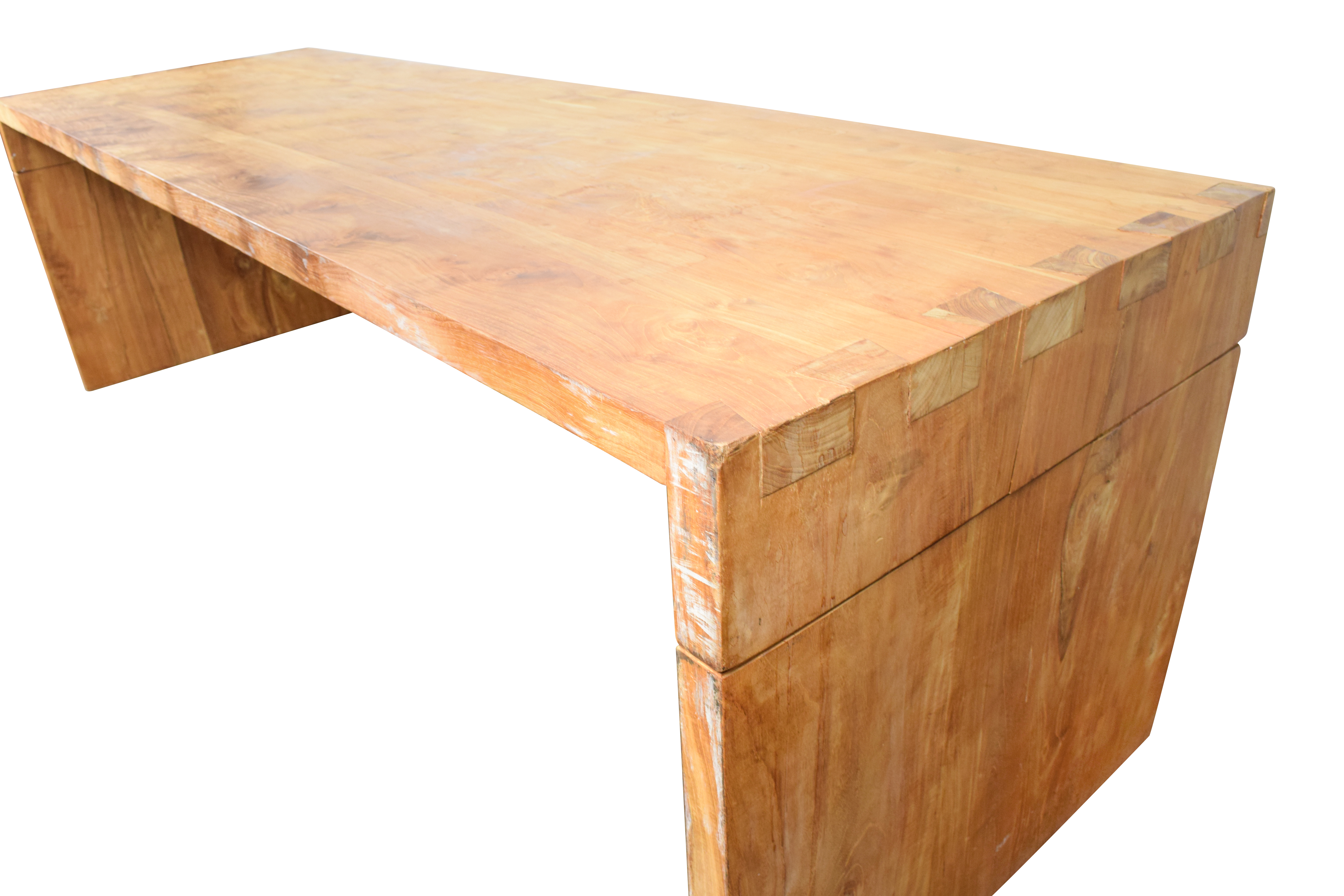 Off custom made teak wood table tables