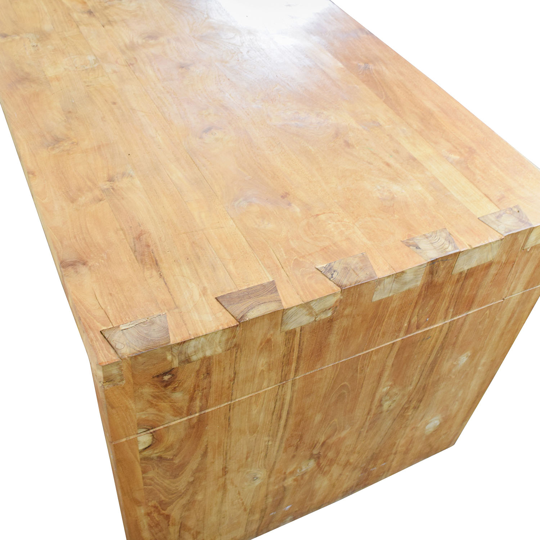 84% OFF - Custom Made Teak Wood Table / Tables