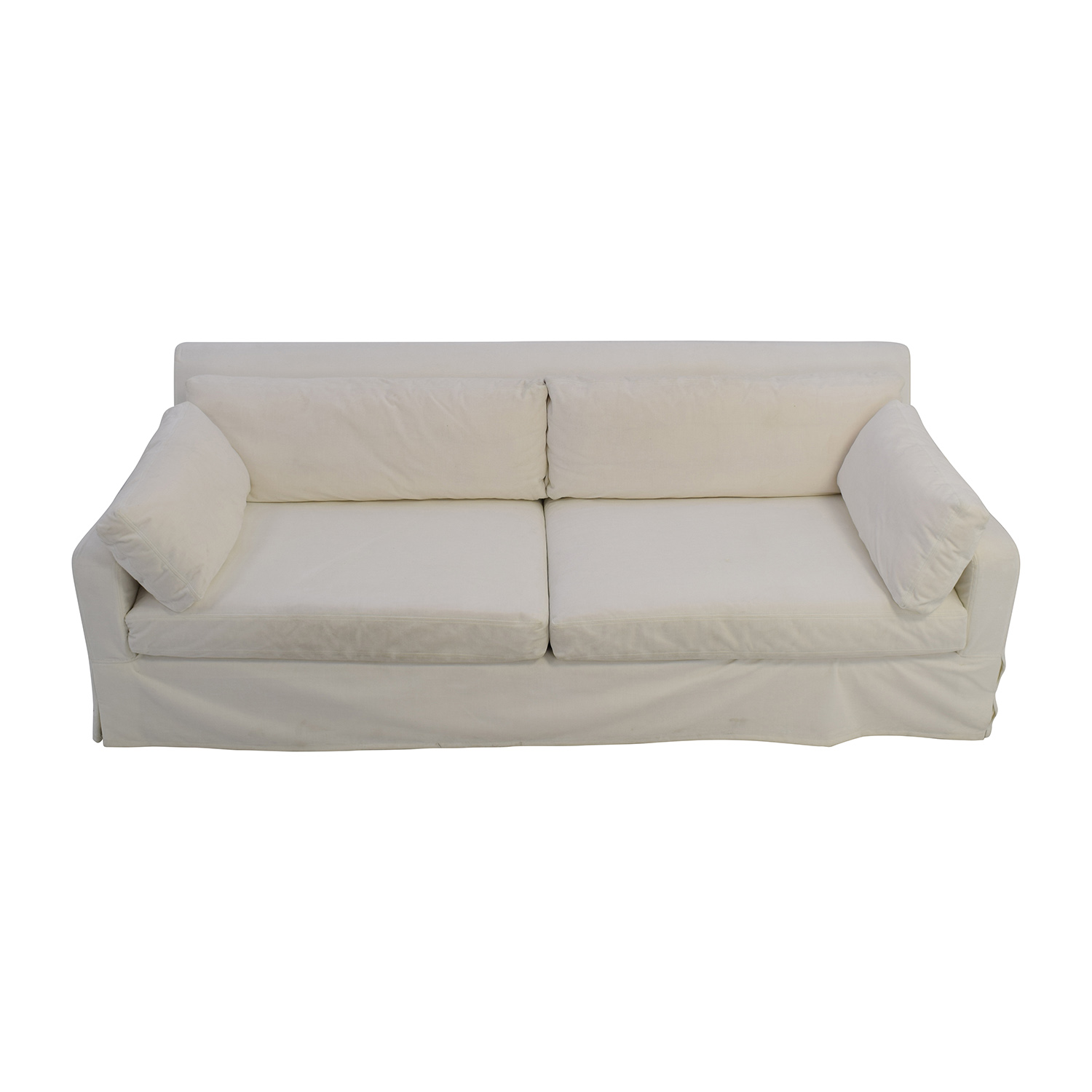buy Restoration Hardware Slope Arm White Sofa Restoration Hardware Sofas