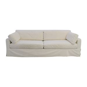 Restoration Hardware Restoration Hardware Slope Arm White Sofa for sale