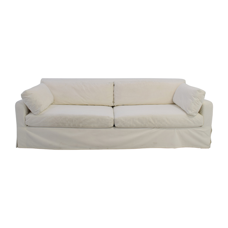shop Restoration Hardware Restoration Hardware Slope Arm White Sofa online
