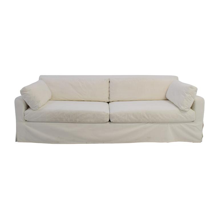 shop Restoration Hardware Restoration Hardware Slope Arm White Sofa online