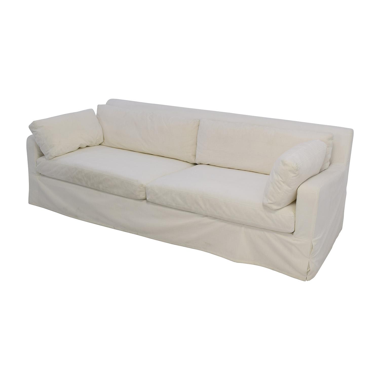 ... Buy Restoration Hardware Slope Arm White Sofa Restoration Hardware  Classic Sofas ...