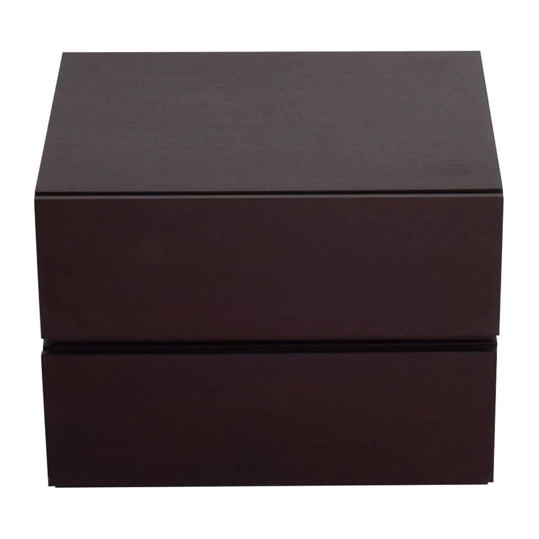 buy Dark Brown Stackable Italian Drawers Tables
