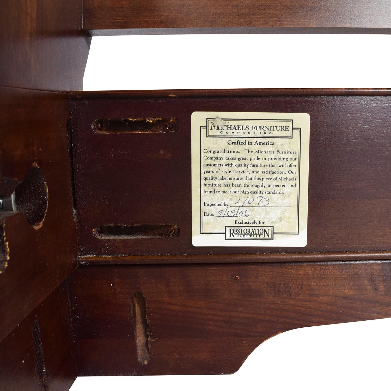 Restoration Hardware Mareston Queen Sleigh Bed Brown