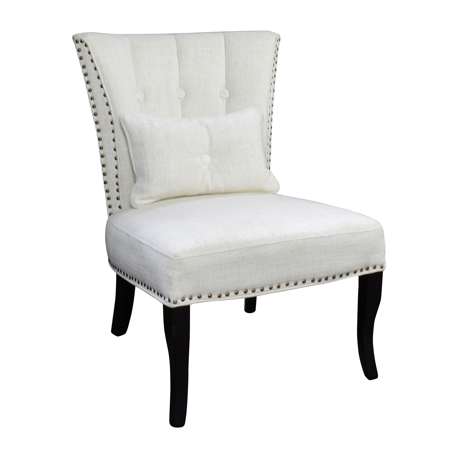 66 off unkown white tufted accent chair chairs Tufted accent chair