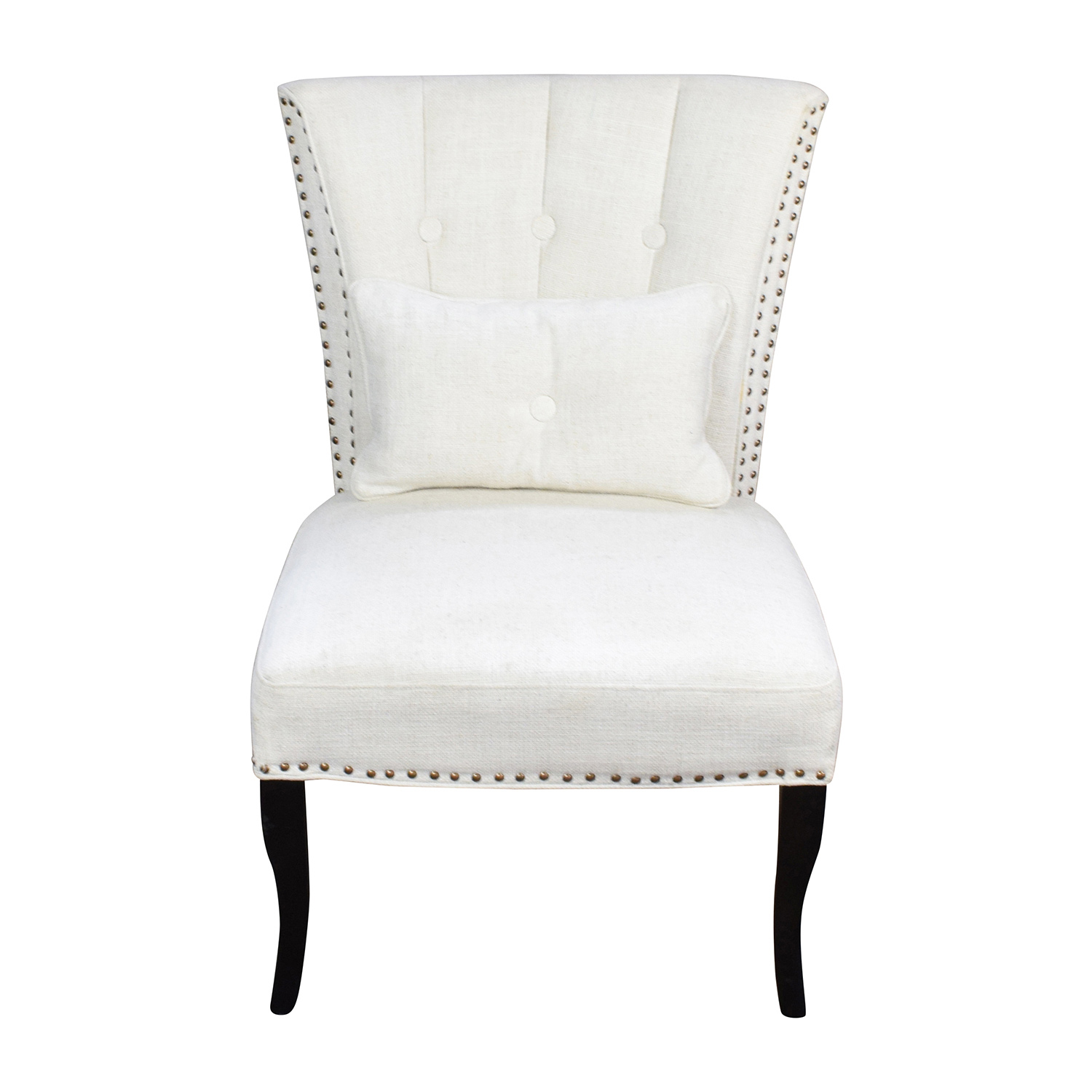 shop White Tufted Accent Chair Unkown