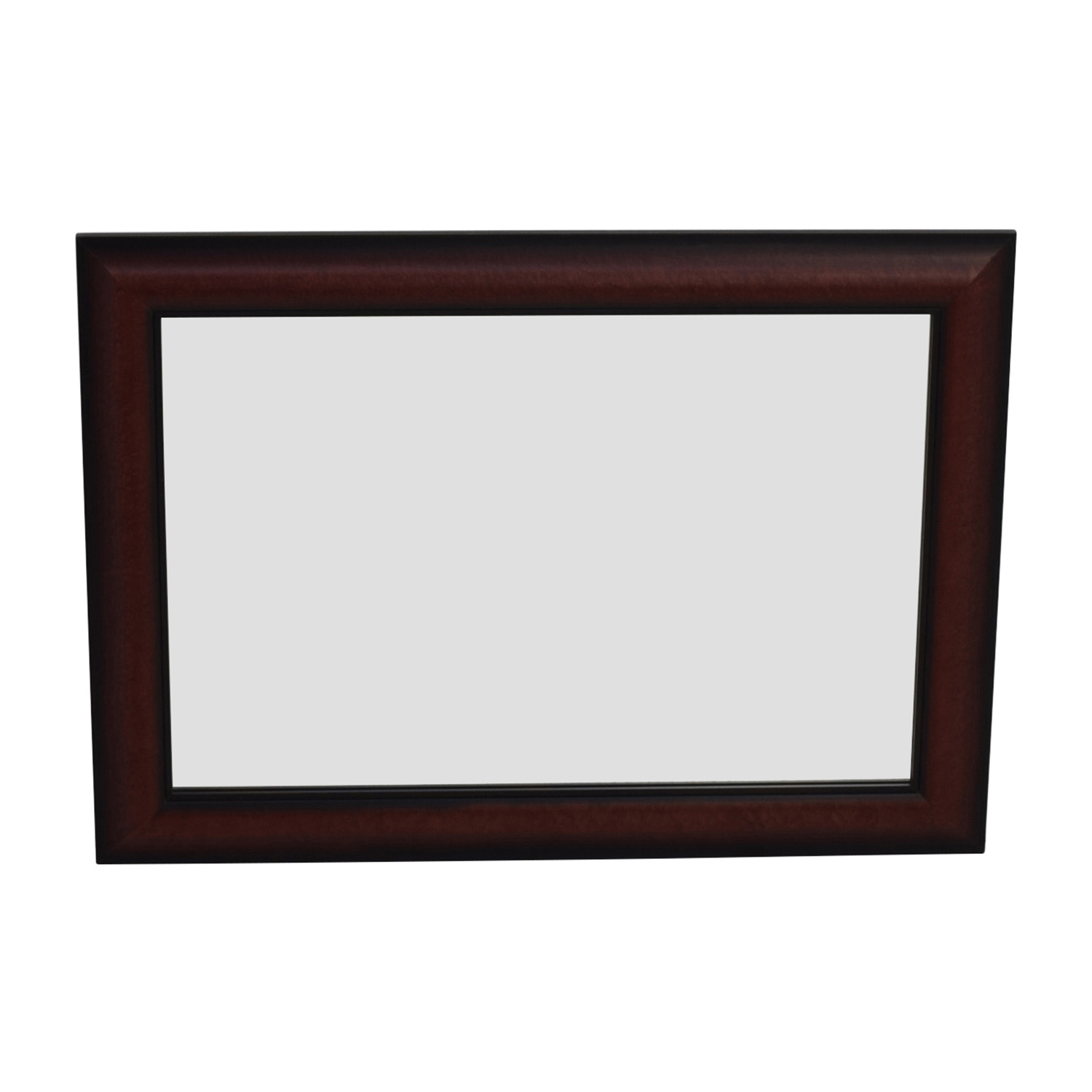 Cherry Wood Rectangular Wall Mirror Mirrors