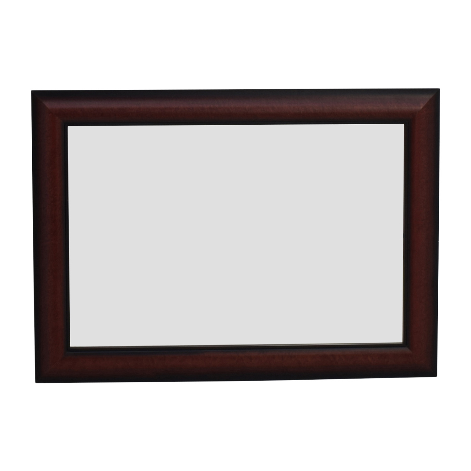 Cherry Wood Rectangular Wall Mirror nj