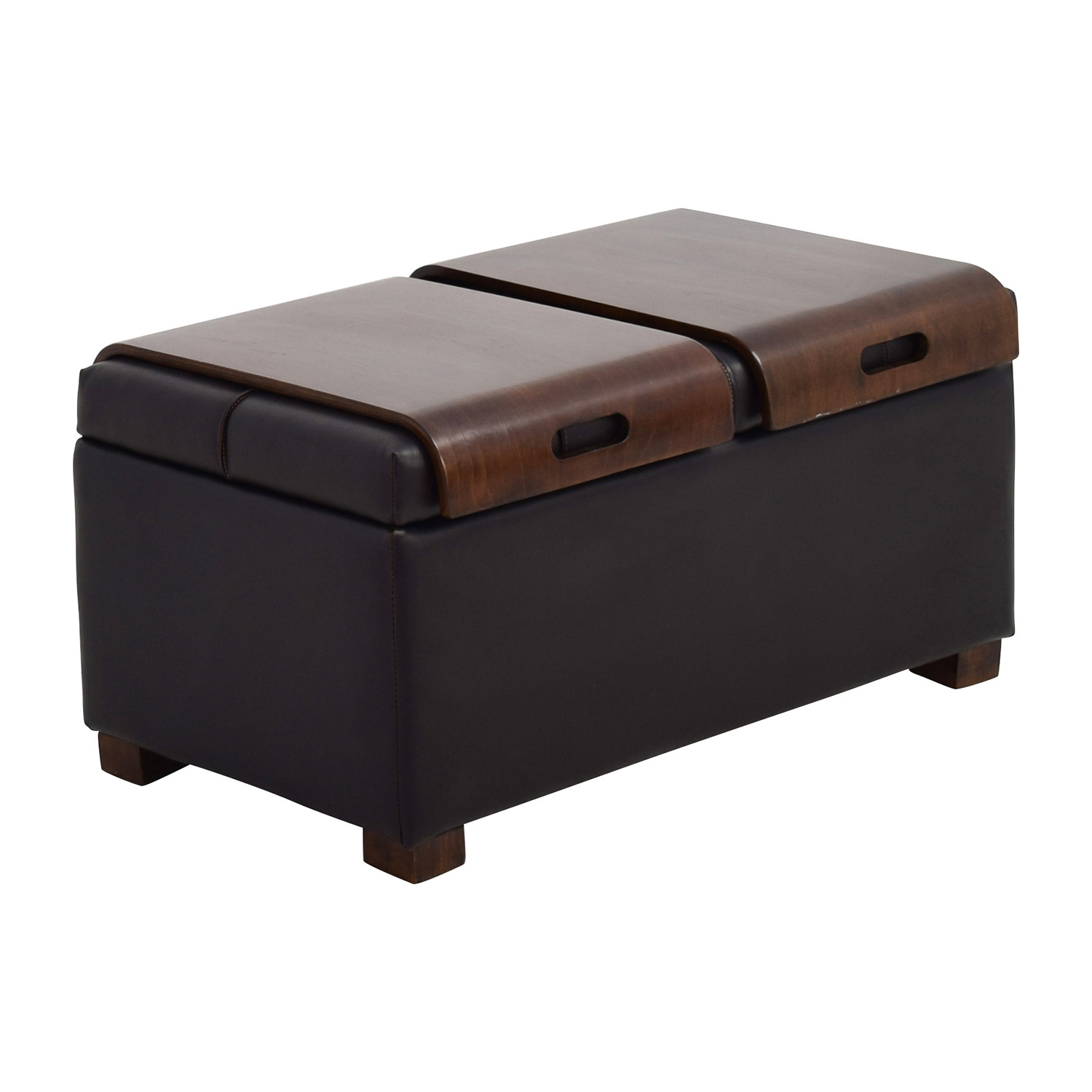 39 off raymour and flanigan raymour flanigan storage ottoman with two trays chairs. Black Bedroom Furniture Sets. Home Design Ideas