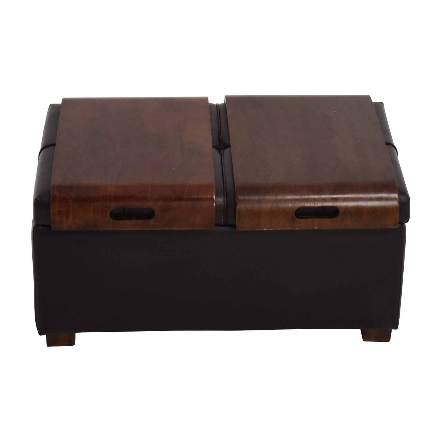 Raymour and Flanigan Raymour & Flanigan Storage Ottoman with two trays nyc
