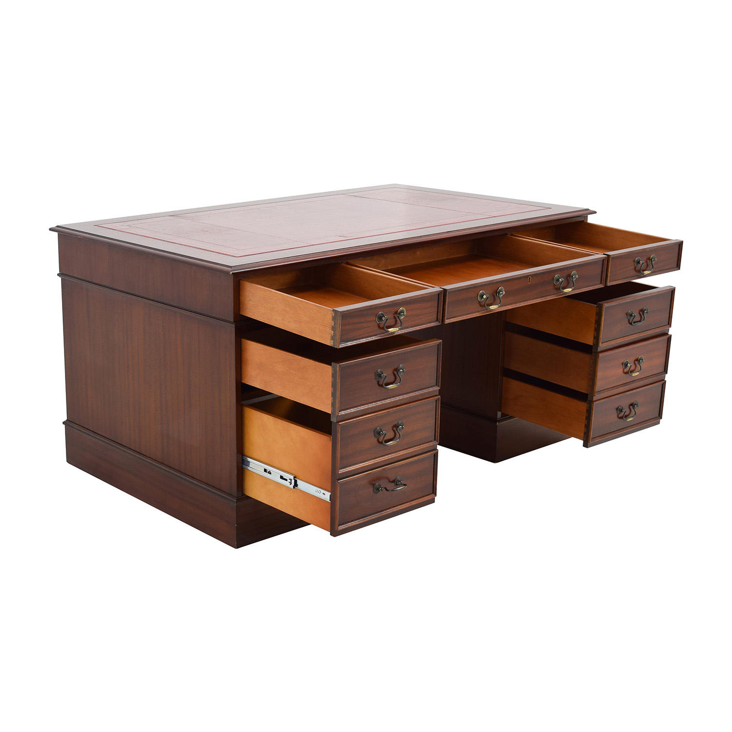 kitchen cabinets wall 47 mahogany wood nine drawer desk tables 21353