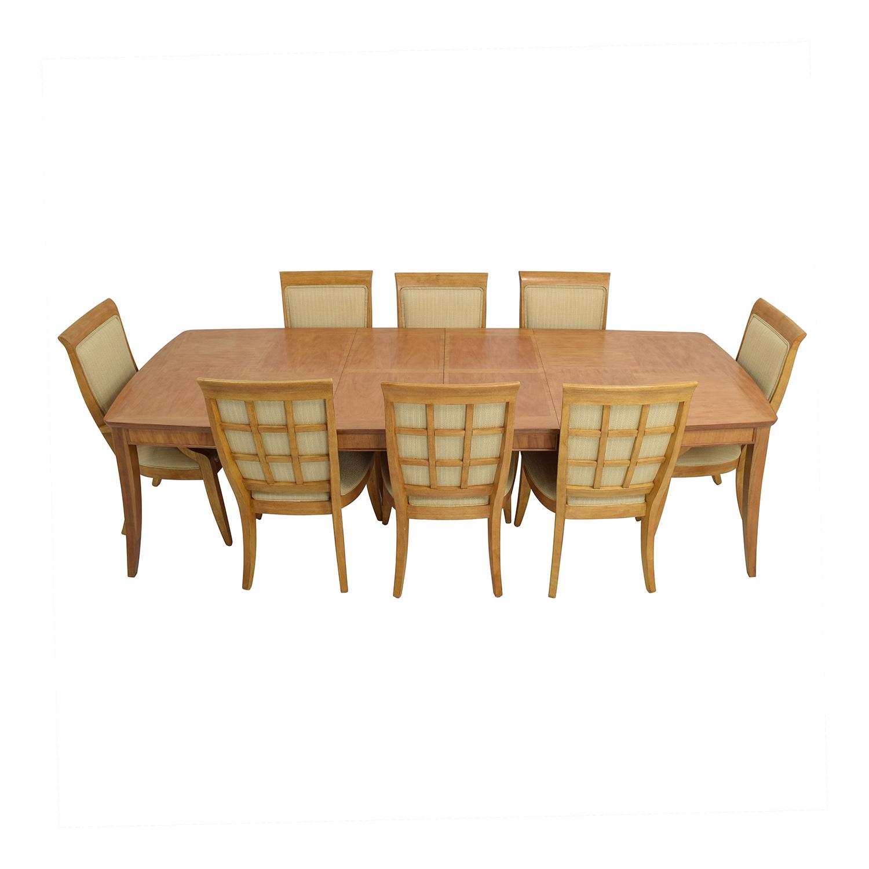 ... Thomasville Thomasville Nine Piece Extendable Dining Set Used ...