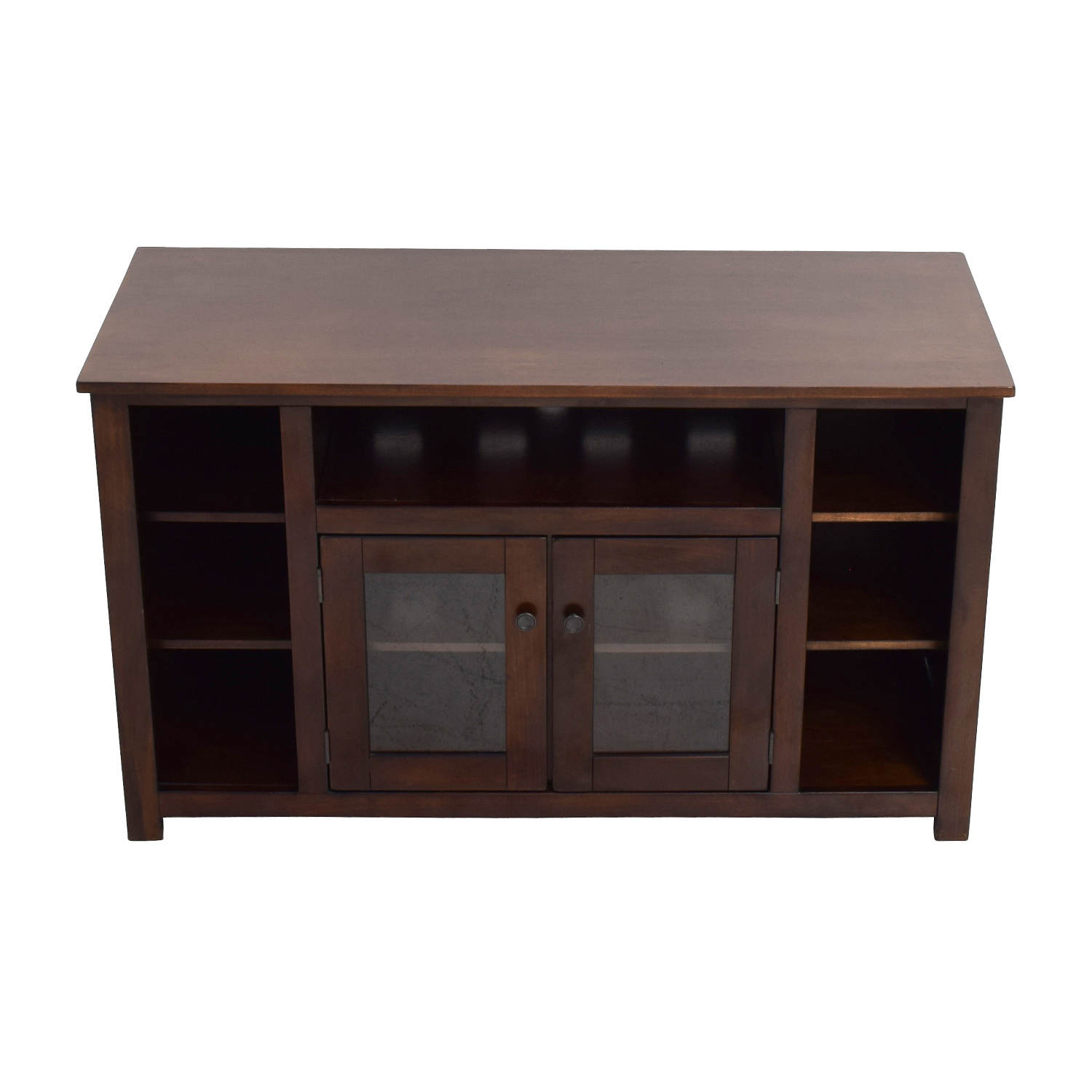 85 off dark brown tv console with storage storage