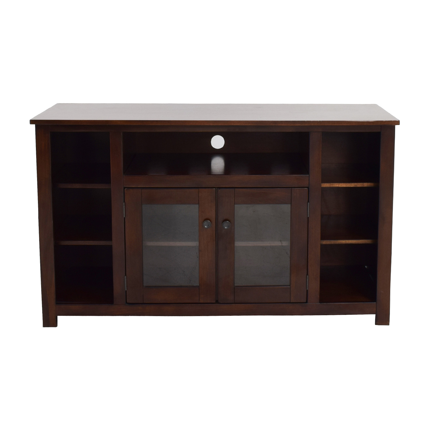 Dark Brown TV Console with Storage nyc