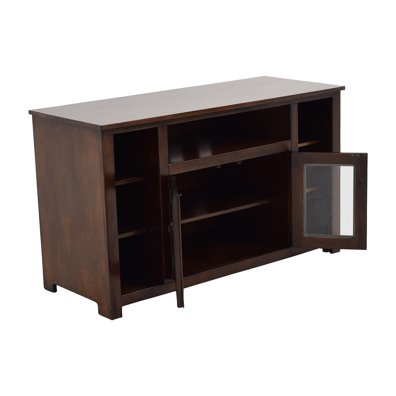 85 OFF Dark Brown TV Console with Storage Storage : used dark brown tv console with storage from furnishare.com size 1500 x 1500 jpeg 241kB
