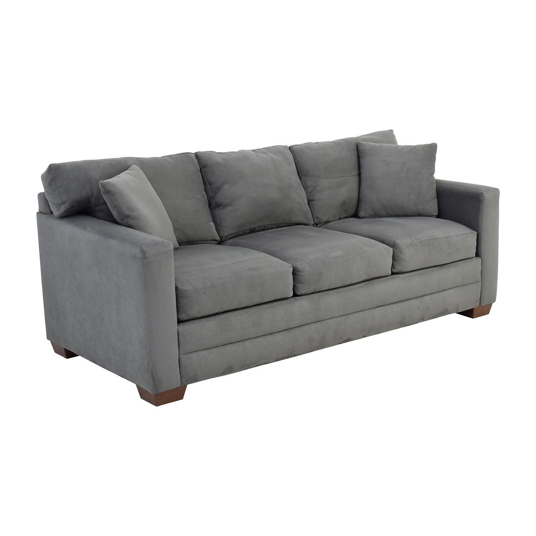 ... Jensen Lewis Jensen Lewis Dark Grey Microsuede Couch Nj ...