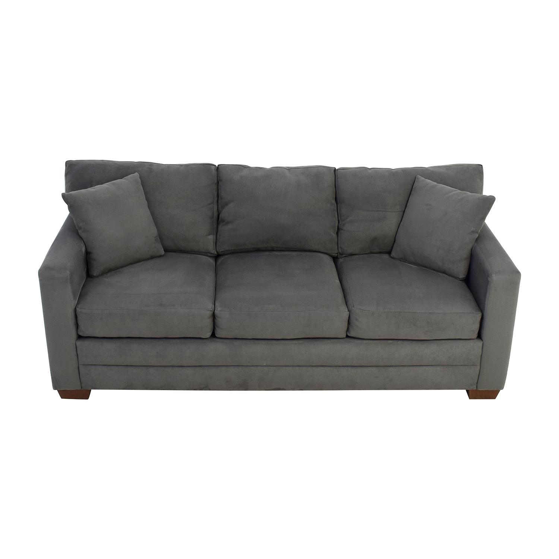 Jensen Lewis Jensen Lewis Dark Grey Microsuede Couch Sofas