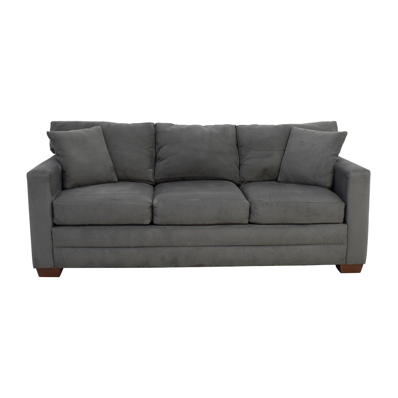 Jensen Lewis Jensen Lewis Dark Grey Microsuede Couch on sale