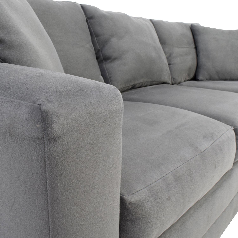 ... Jensen Lewis Jensen Lewis Dark Grey Microsuede Couch On Sale