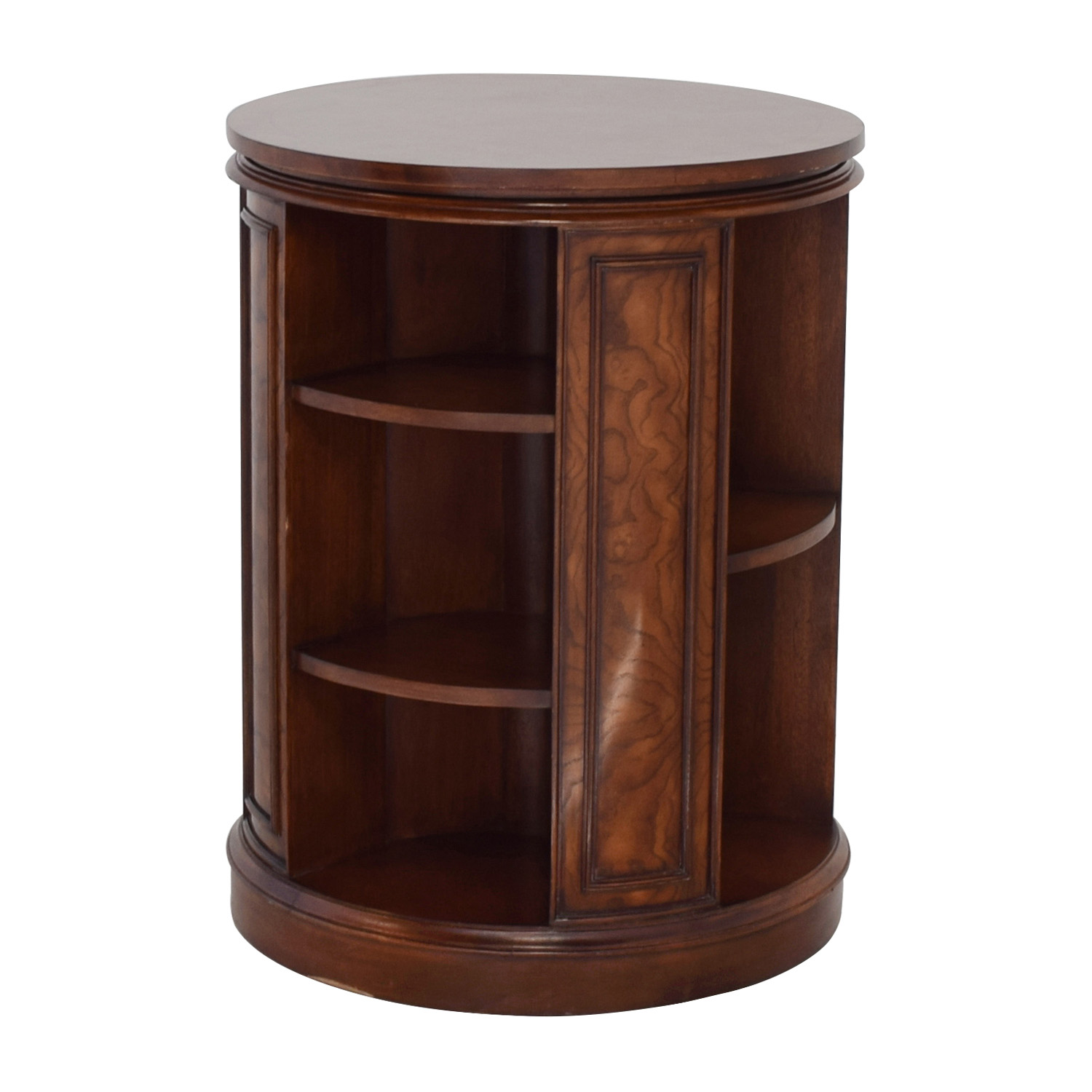 Safavieh Safavieh Rotating Side Table Bookcase For Sale