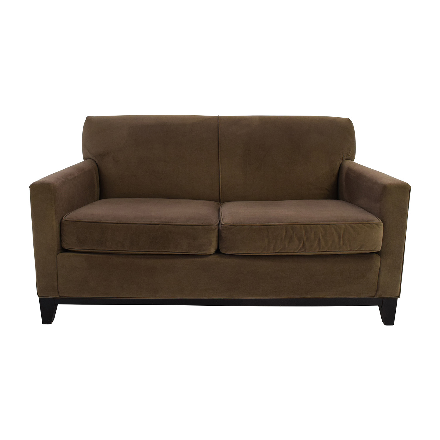 shop Raymour and Flanigan Parker Tan Loveseat Raymour and Flanigan Loveseats