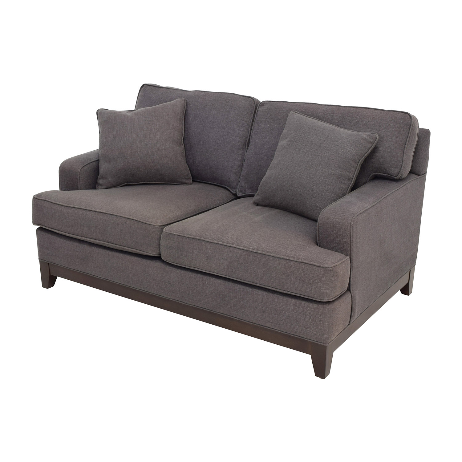 83 off ethan allen ethan allen arcata gray loveseat sofas for Classic loveseat