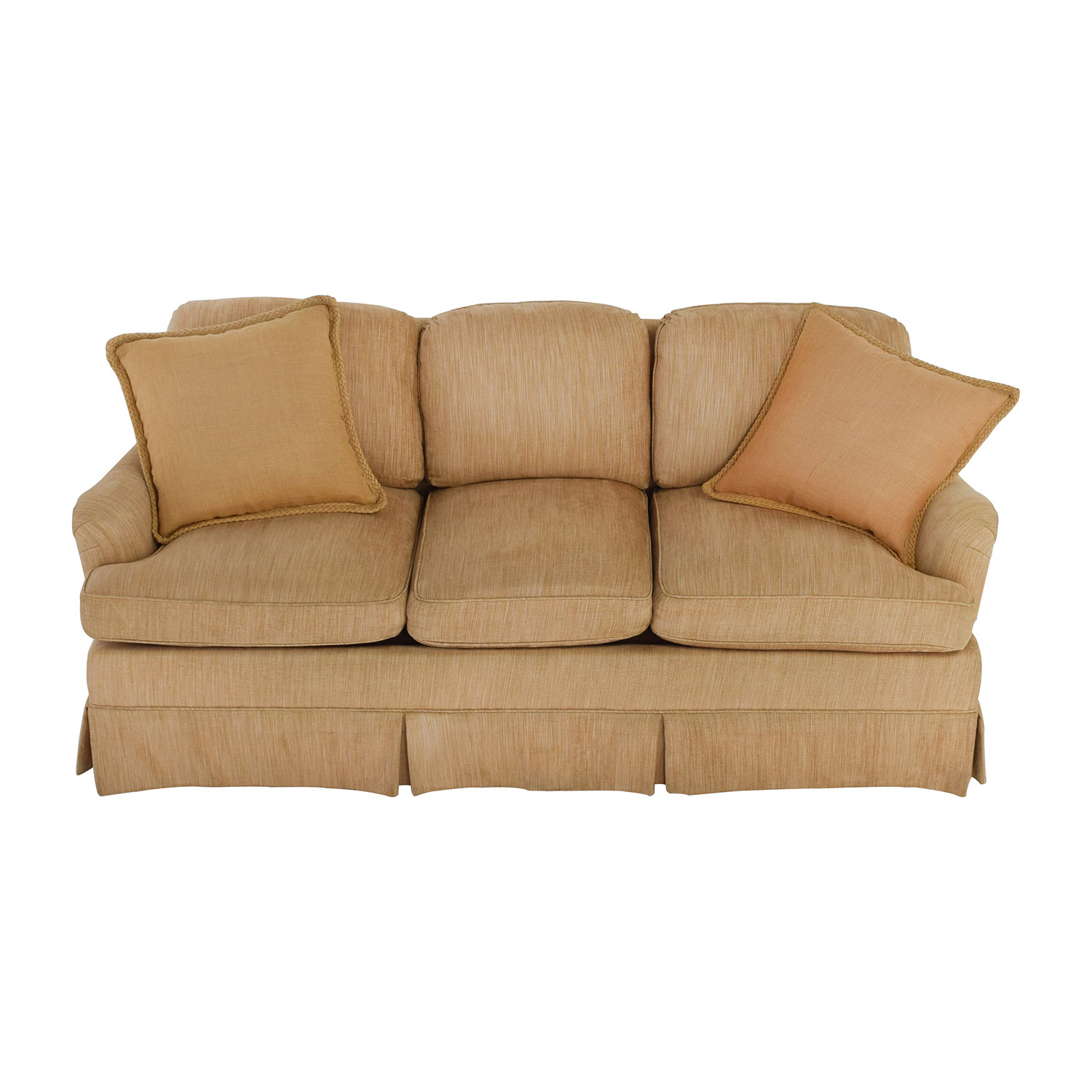Tan Sofas 2 Pcs Transitional Style Tan Sofa Set Sm8110 Fabric Sofas Thesofa