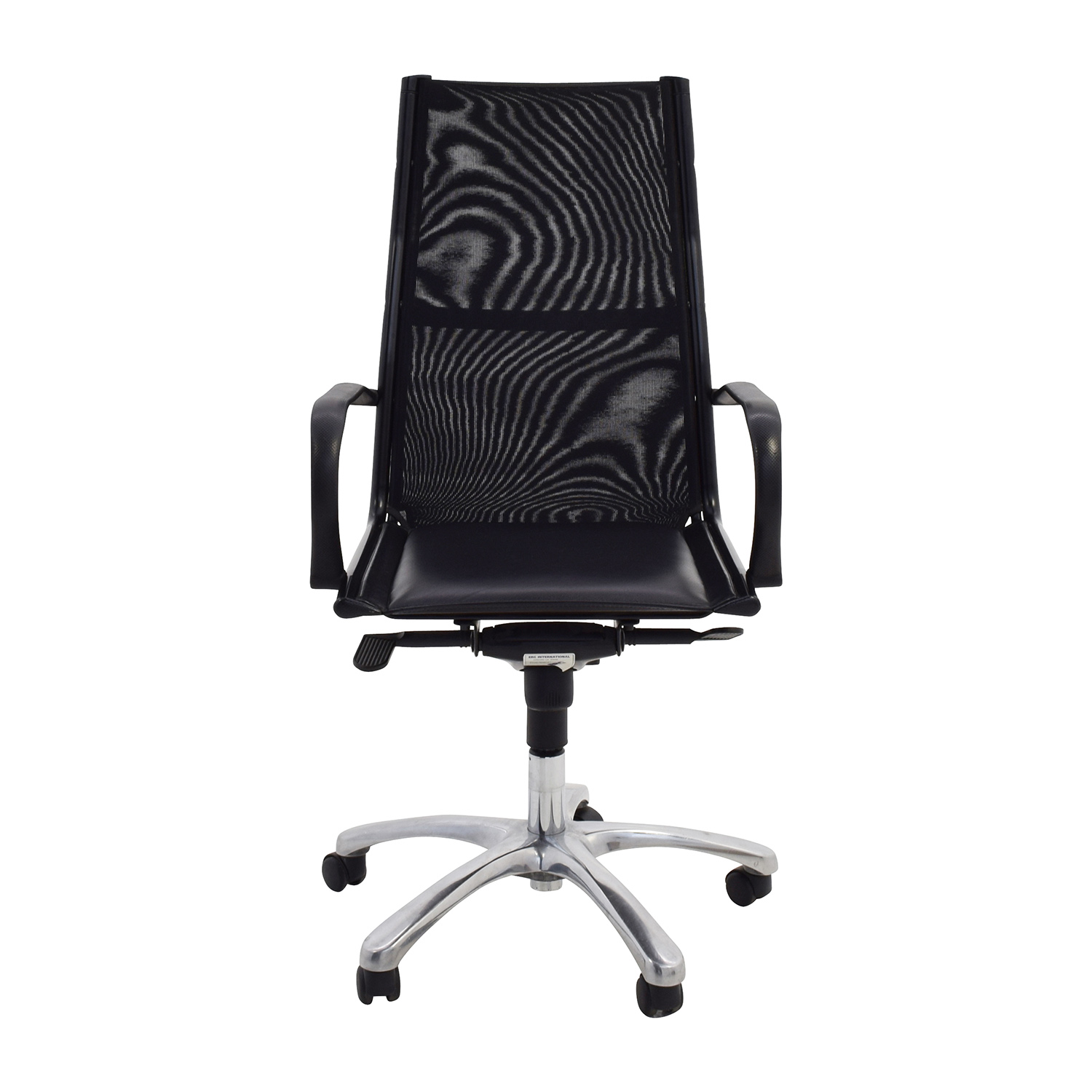buy ERG International Black Office Chair ERG International Home Office Chairs