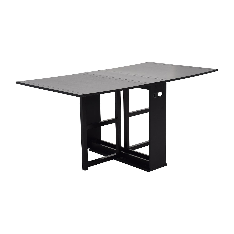 52 Off Crate Barrel Gateleg Drop Leaf Fold Away Dining Table Tables