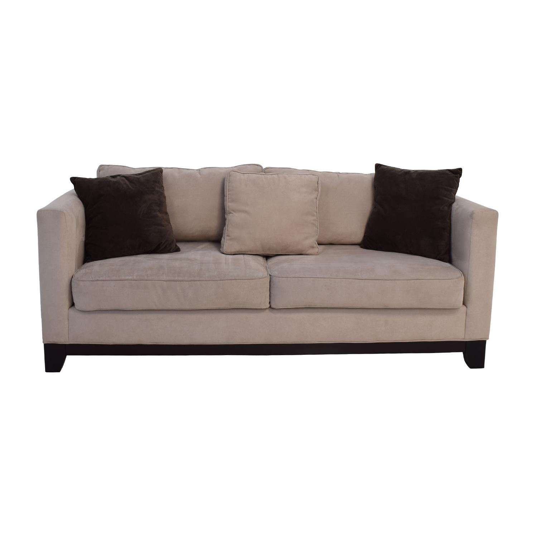 60 Off Bauhaus Furniture Bauhaus Beige Microsuede Couch