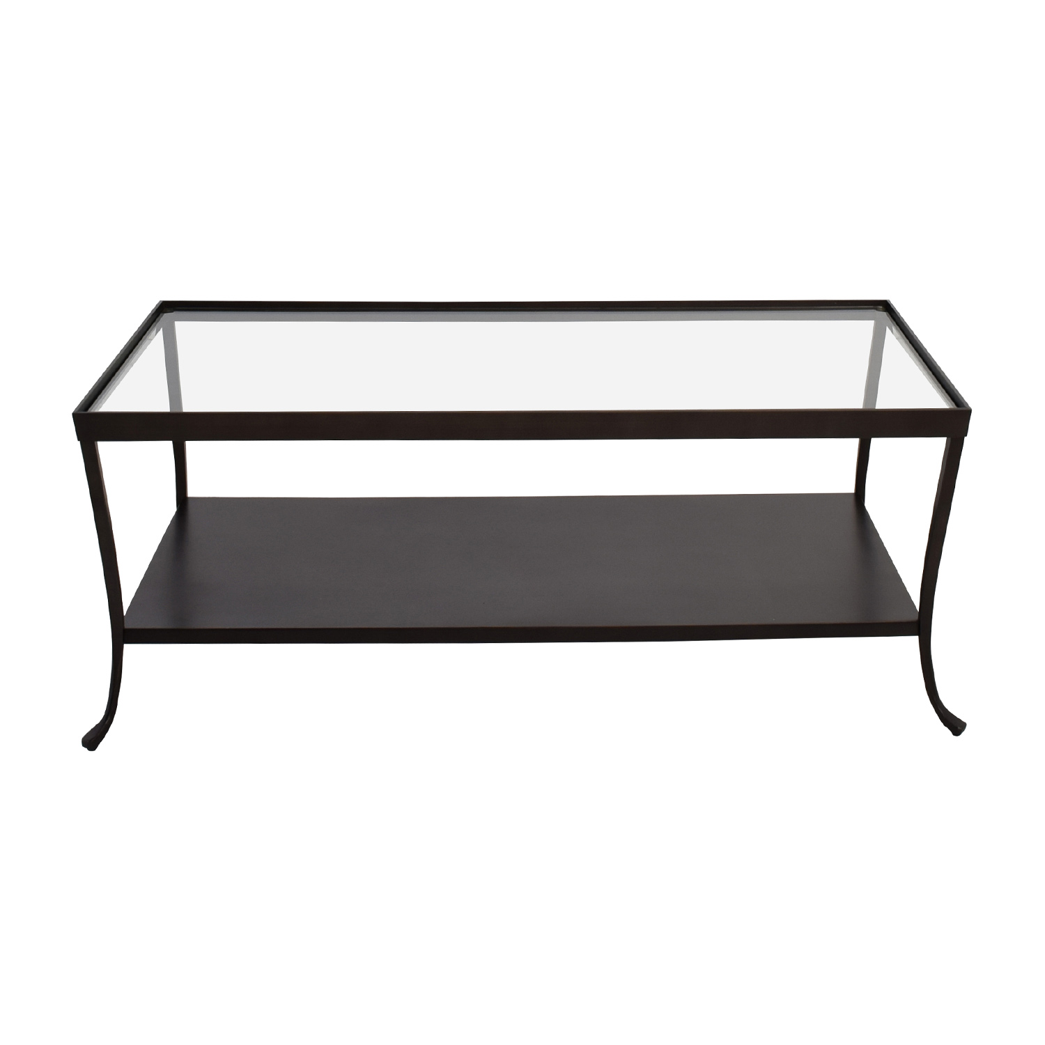 Metal Base with Glass Top Coffee Table Tables