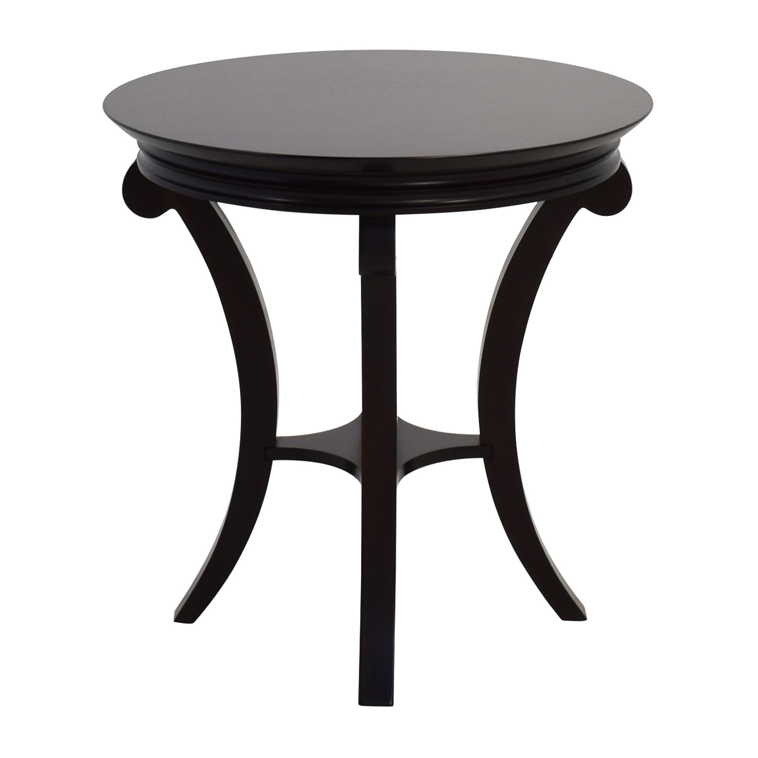 Round Mahogany Side Table Accent Tables ...