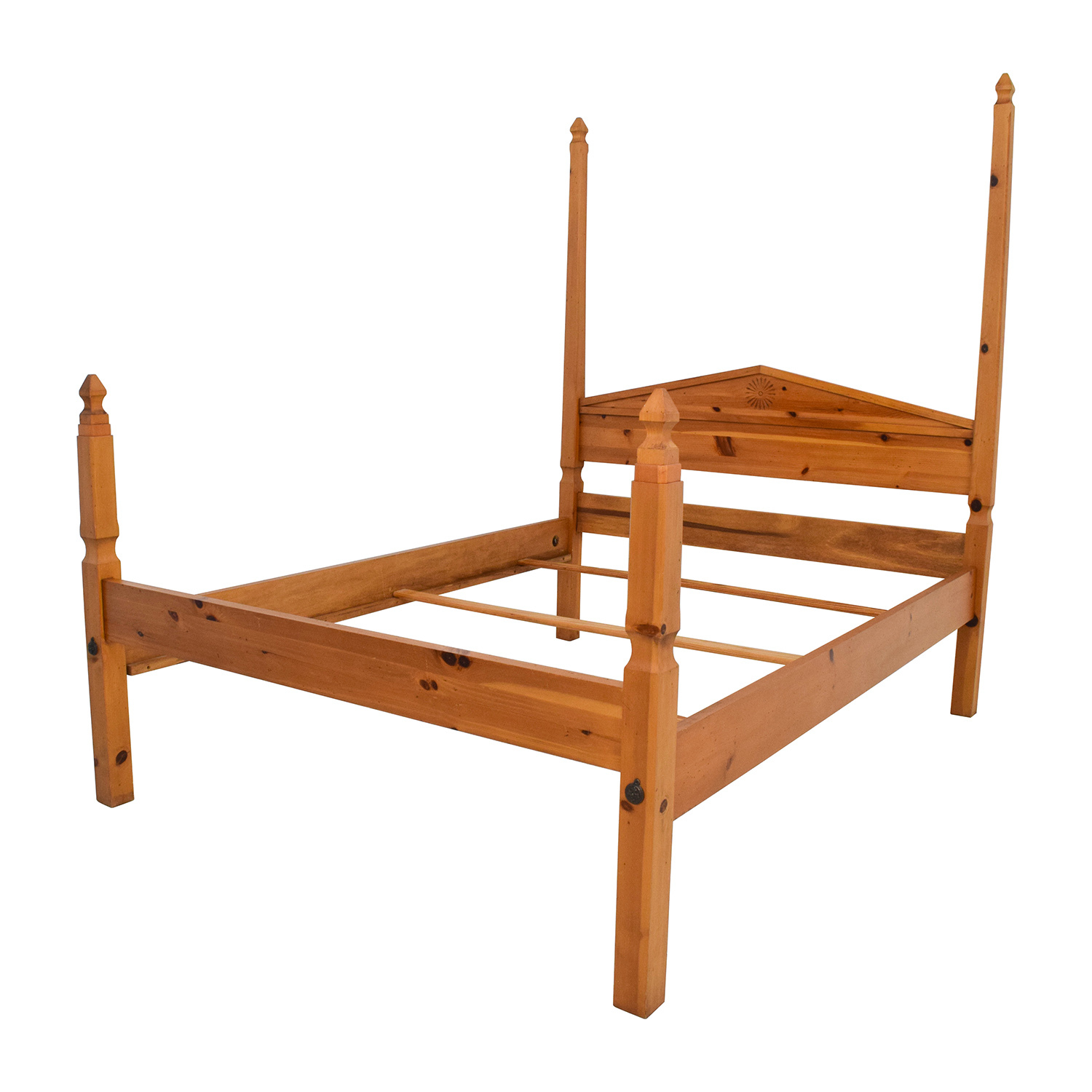 84 off pine four poster queen bed frame beds for Beds for sale