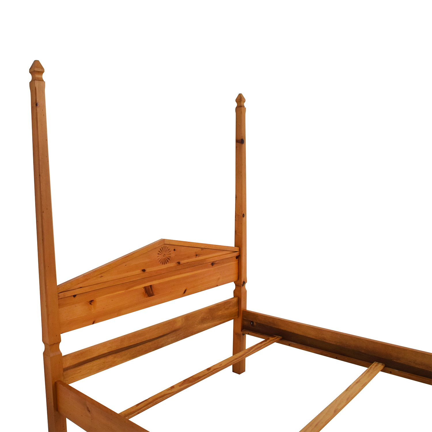 84 Off Pine Four Poster Queen Bed Frame Beds