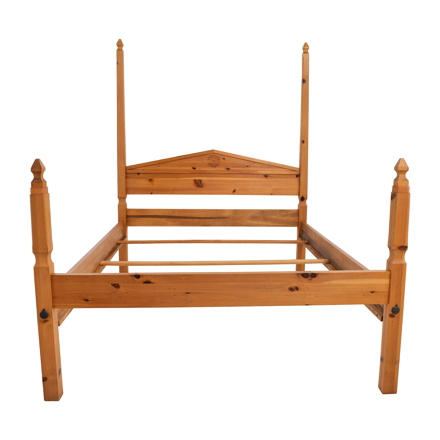 Pine Four Poster Queen Bed Frame on sale