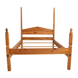 Pine Four Poster Queen Bed Frame sale