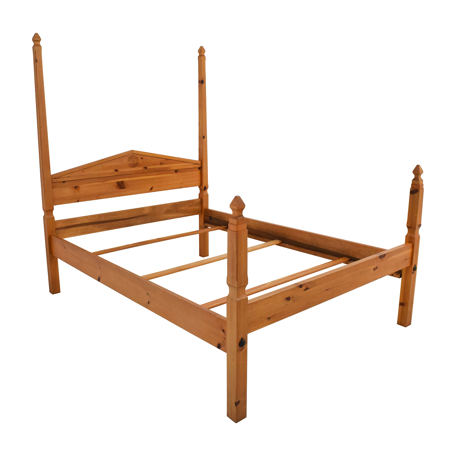 84 off pine four poster queen bed frame beds for Second hand bunk beds