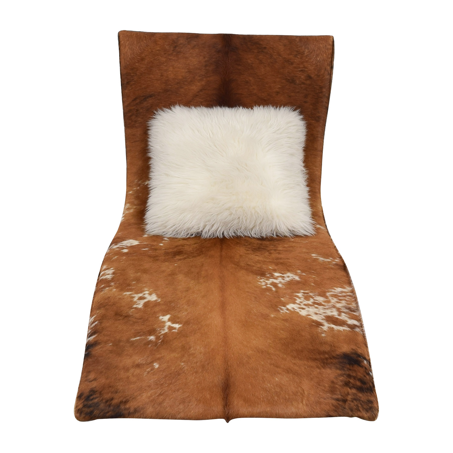 leather cow hide accent chaise chair accent chairs