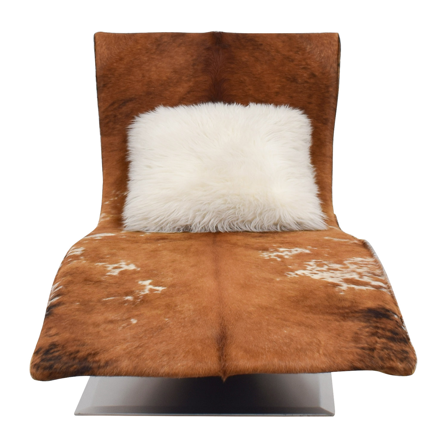 Leather Cow Hide Accent Chaise Chair dimensions