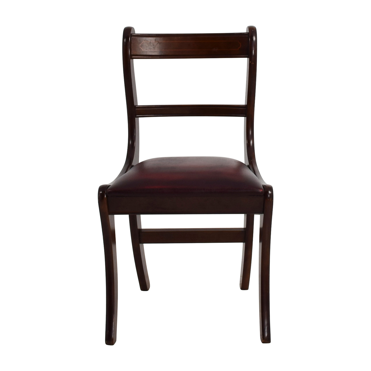 shop Dark Wood Chair with Leather Seat Chairs