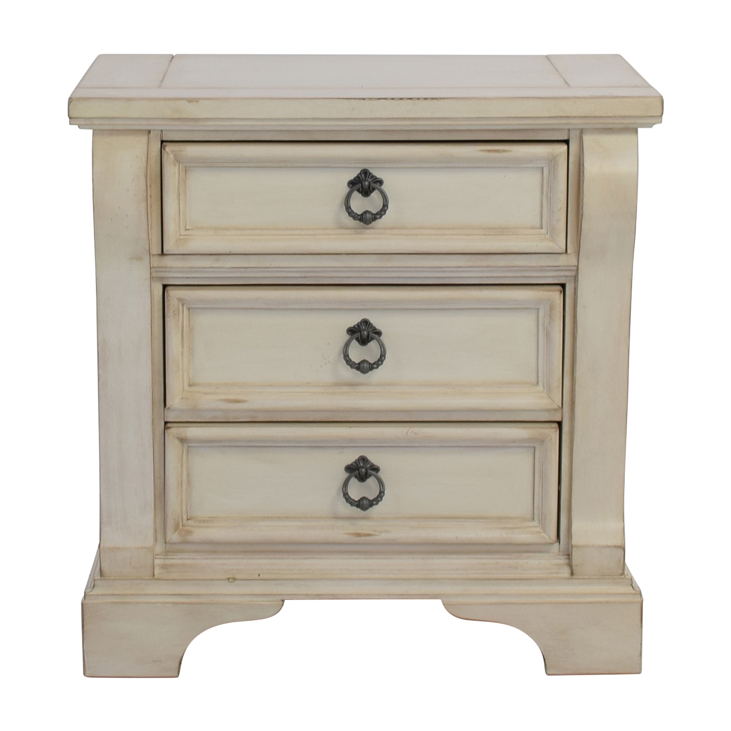 The Classy Home The Classy Home Antique White Nightstand on sale
