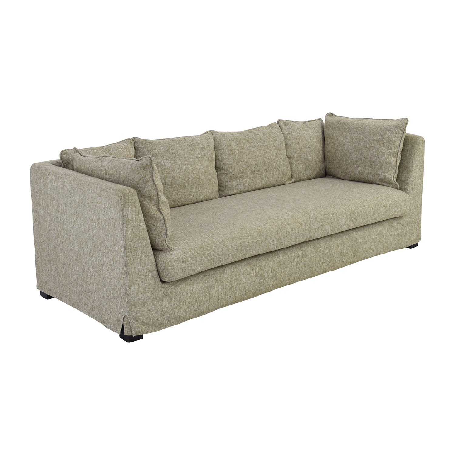 80 Off Beige Latte Three Seater Sofa Sofas