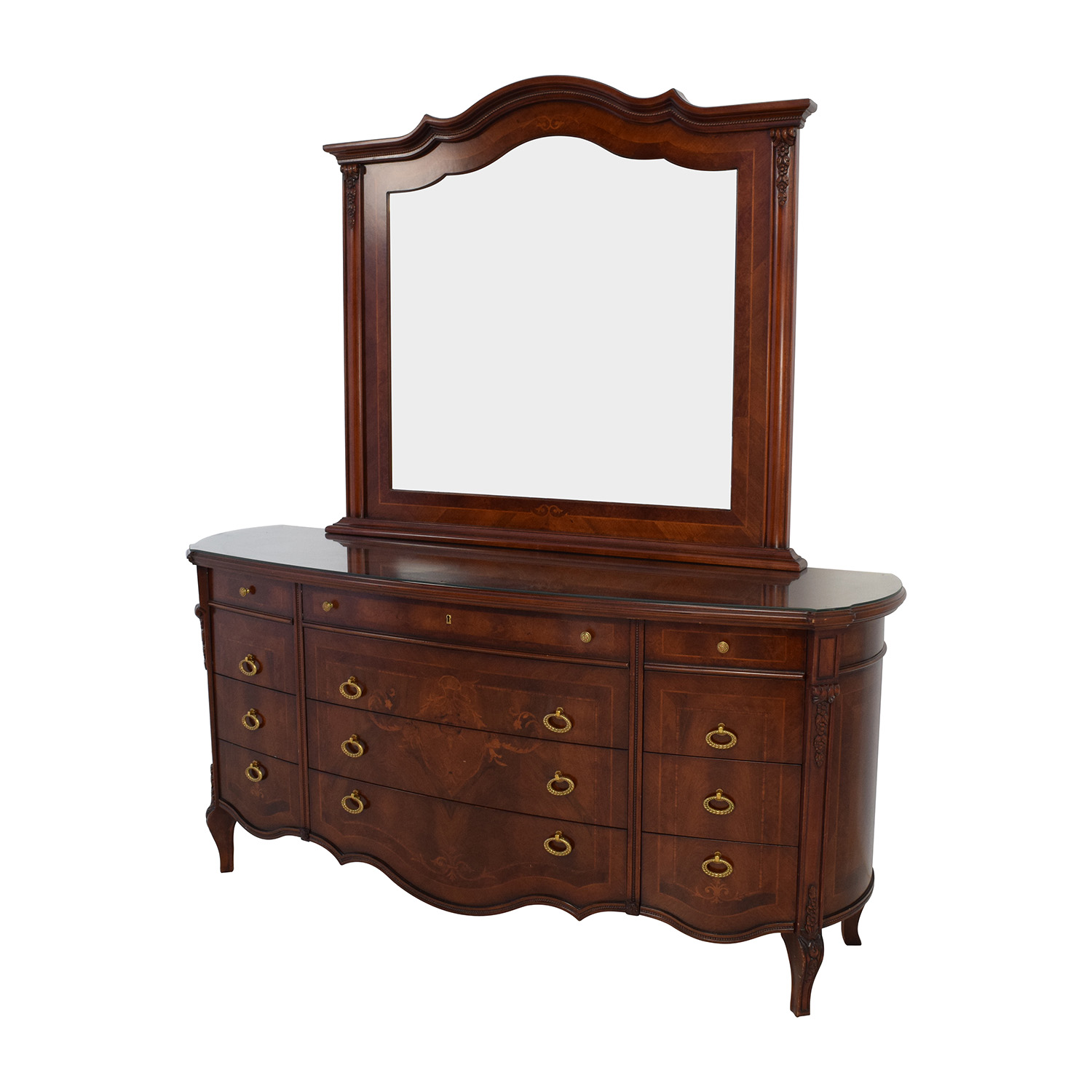 90 off antique european wood dresser with mirror storage for Furniture 90 off