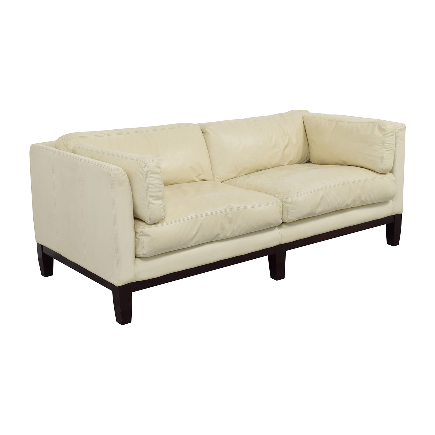 72 off decoro decoro off white leather sofa sofas for Second hand sofas