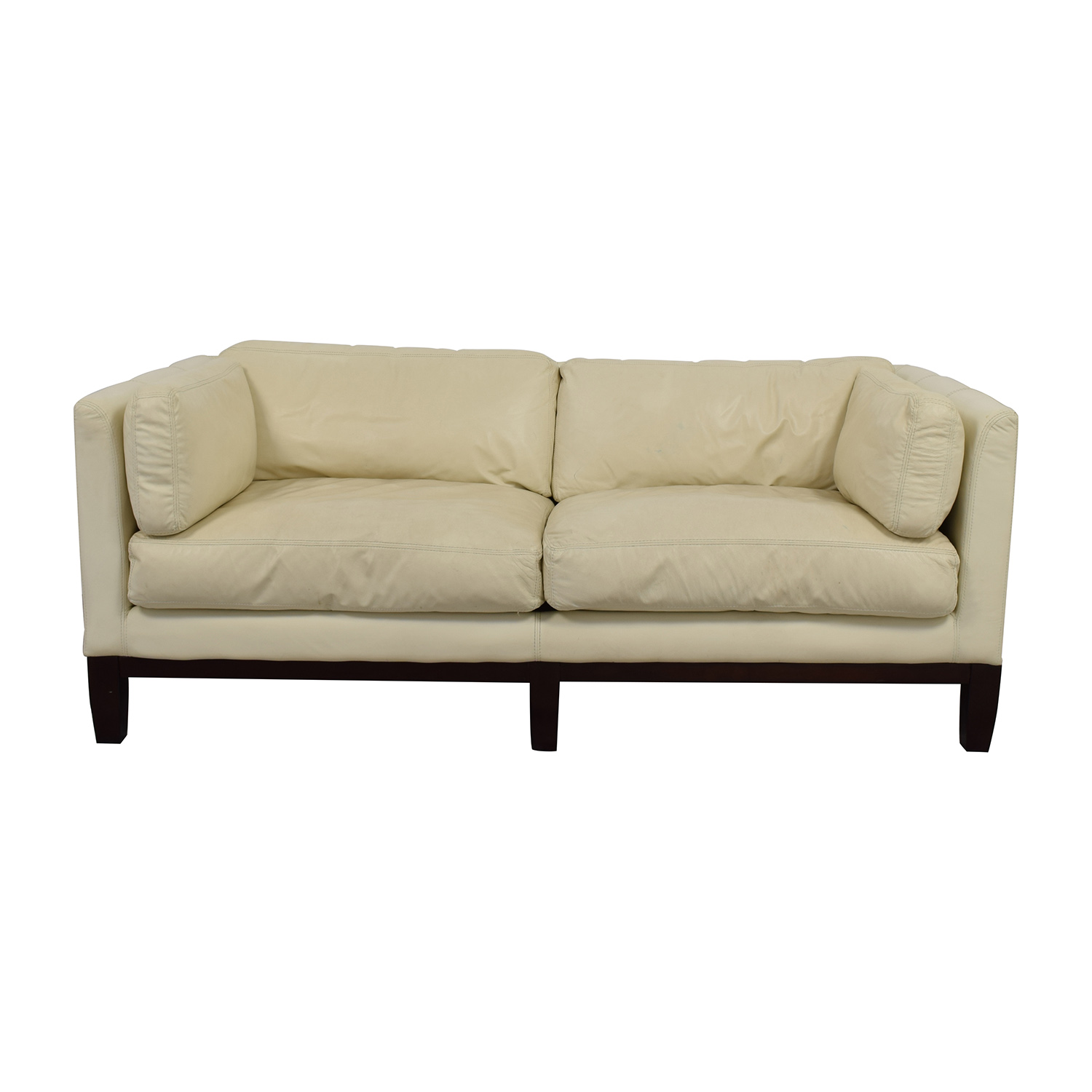 72% OFF - DeCoro Decoro Off-White Leather Sofa / Sofas