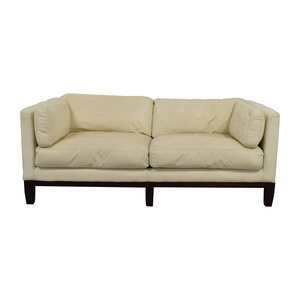 DeCoro  Decoro Off-White Leather Sofa coupon