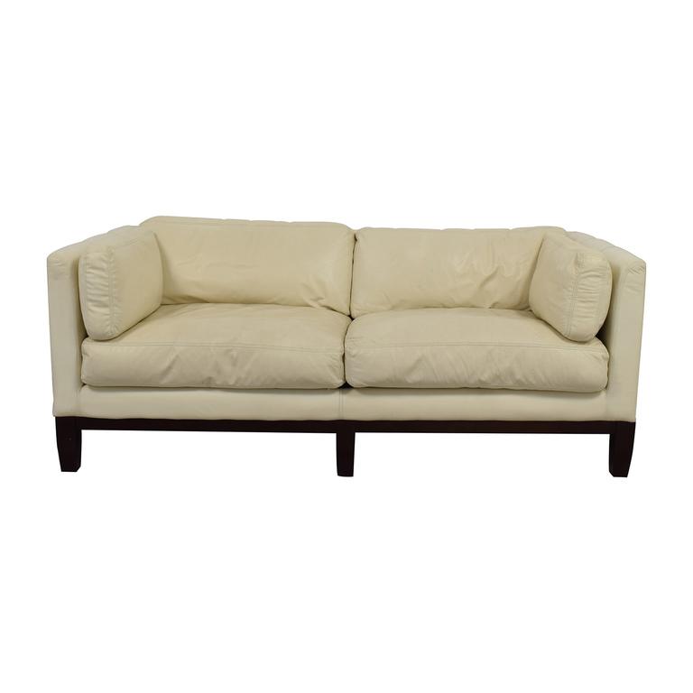 Decoro Decoro Off-White Leather Sofa