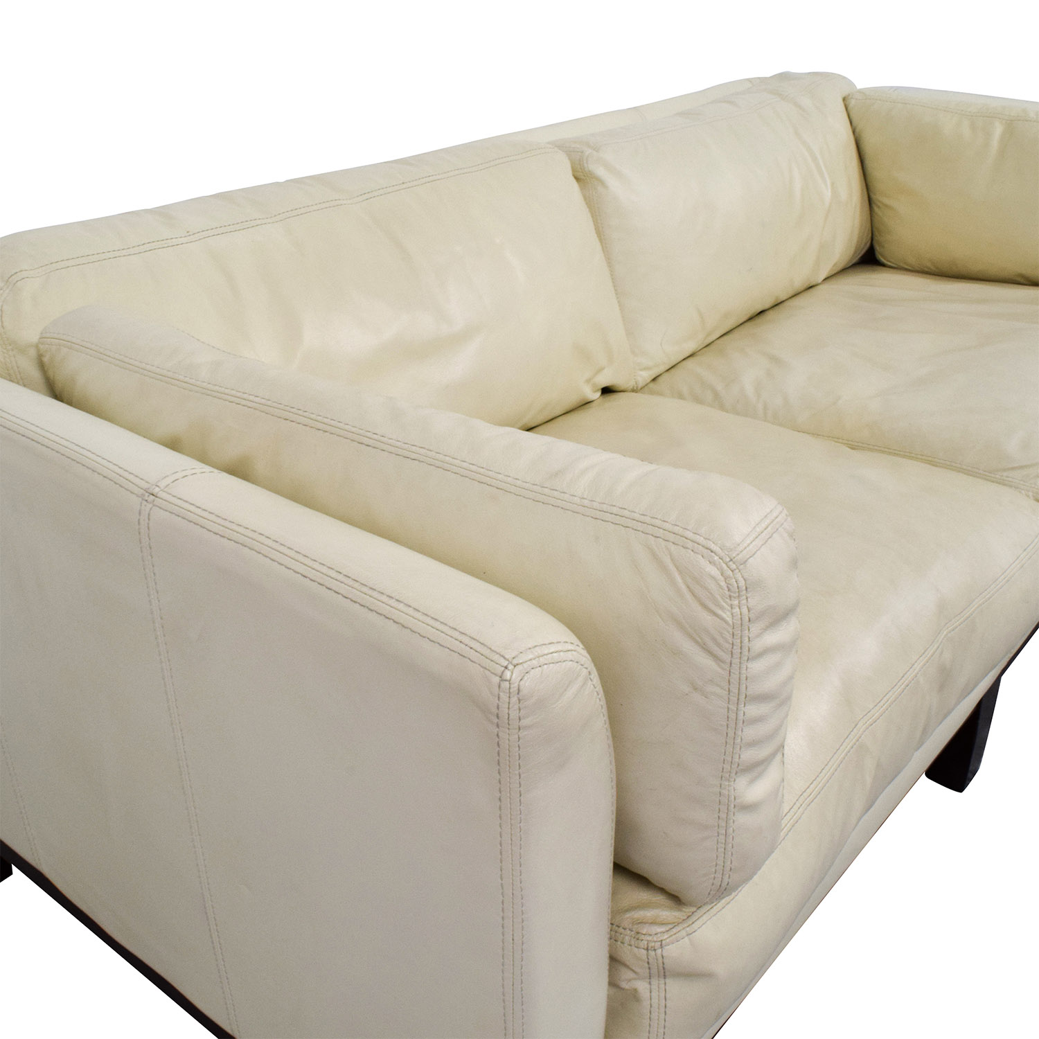 72 Off Decoro Decoro Off White Leather Sofa Sofas